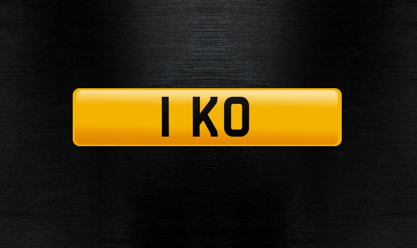 ! KO personal number plate