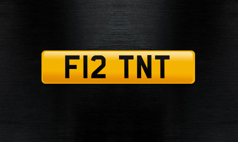 F12 TNT Personal number plate