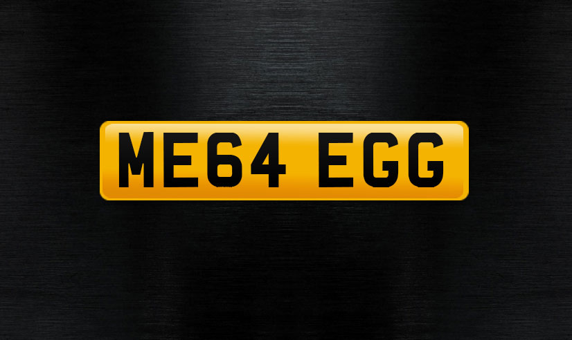 ME64-EGG number plate