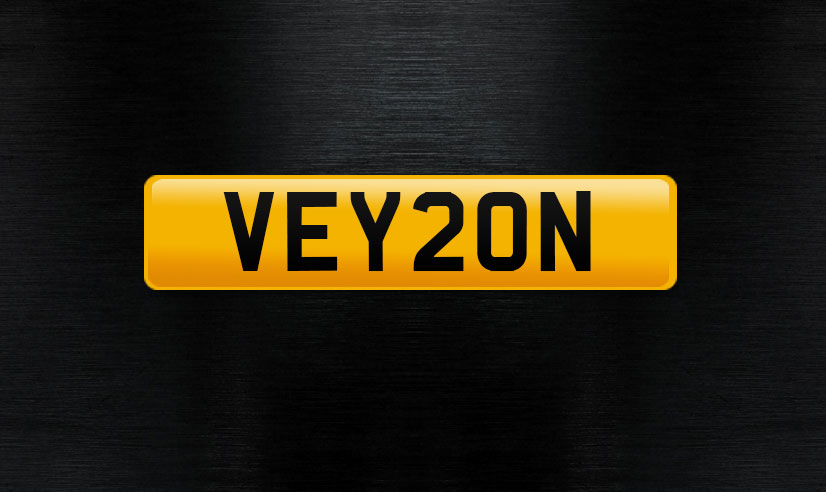 VEY20N personal number plate