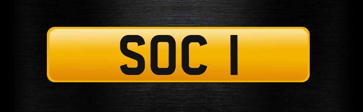 SOC 1 - Personalised Number Plate