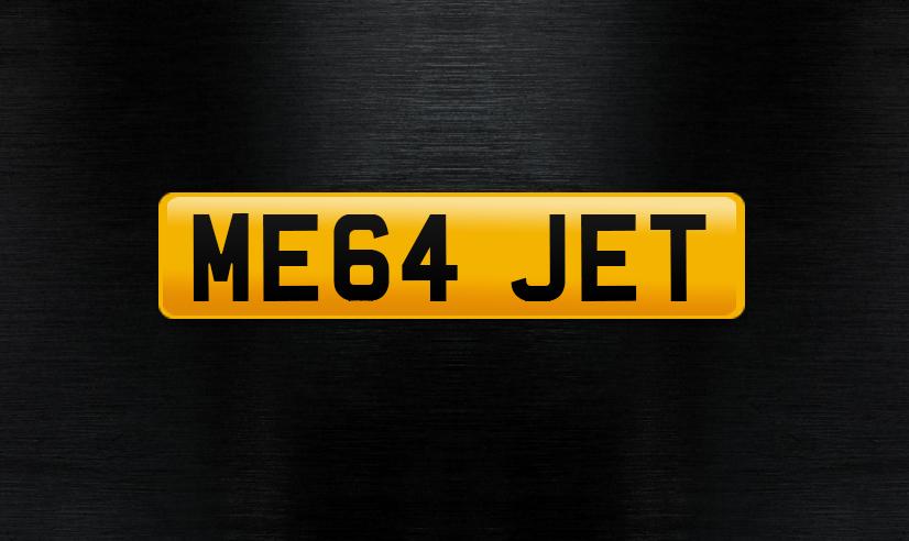 ME64 JET number plate