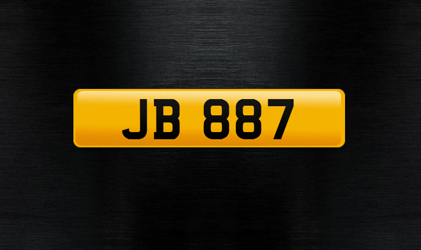 JB 887 number plate