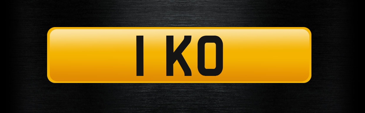 1 KO personalised number plate