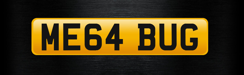 ME64 BUG personalised number plate
