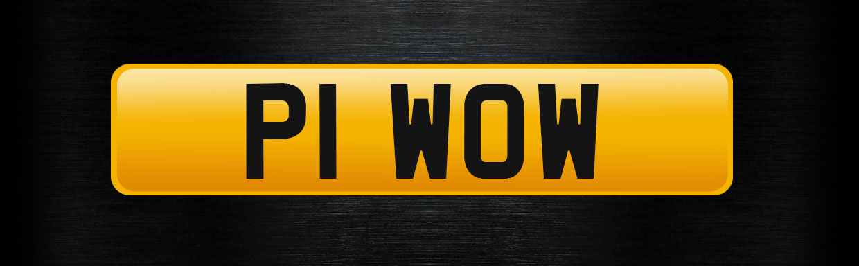P1 WOW personalised number plate
