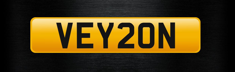 VEY20N personalised number plate