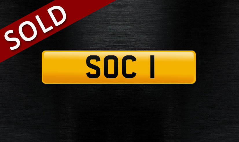 S0C 1 personalised number plate